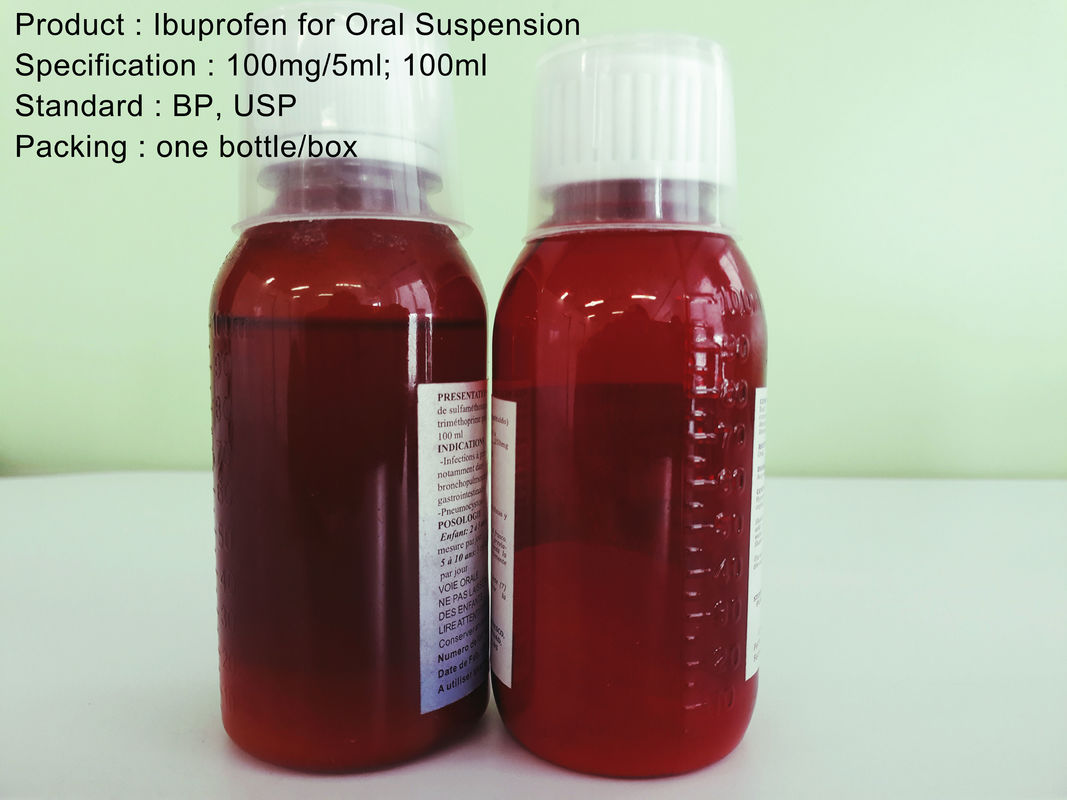 Ibuprofen for Oral Suspension 100mg/5ml; 100ml Oral Medications Ibuprofen Dry Syrup